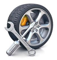 Замена колеса на дороге с выездом
