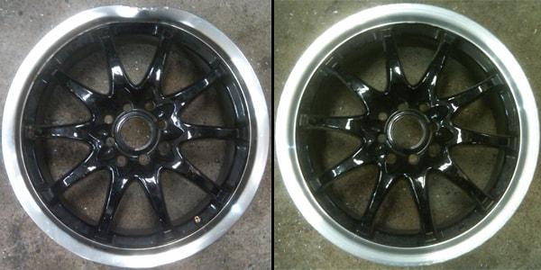 литой диск до и после ремонта