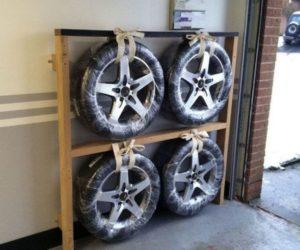 Хранение шин в гараже