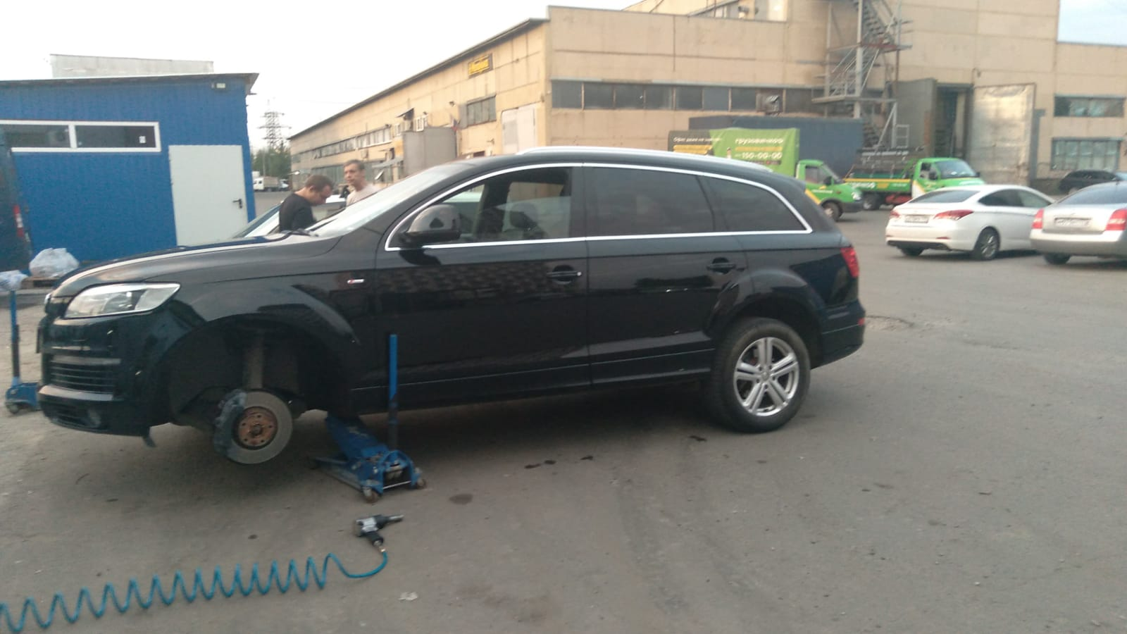 Ремонт колеса ауди Q7 в ШинДоктор