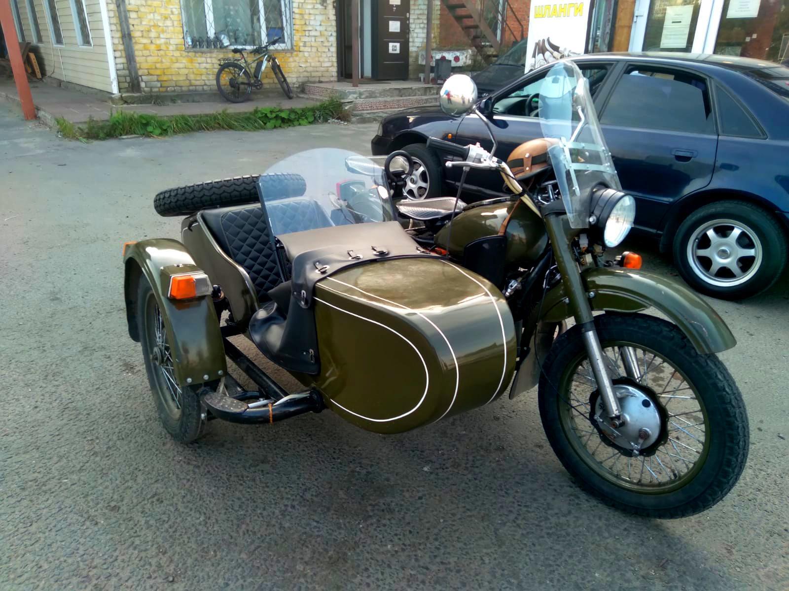 Шиномонтаж мотоцикла Урал